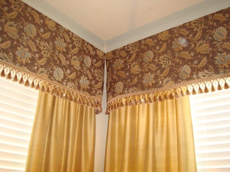 living room curtain in corner window cornice ideasliving room