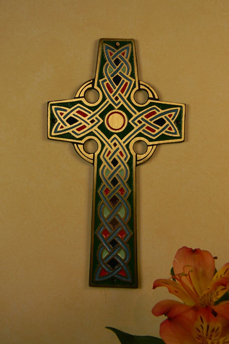 Enameled Bronze Celtic Wall Cross – Celebrate Faith