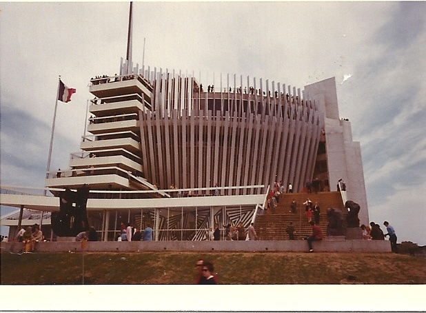 Another photo taken by my Dad at Expo 67.  I don't remember which pavillion this is ~
