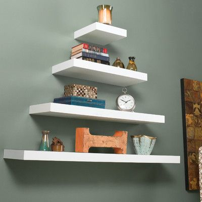 Wildon Home ® Stella Floating Shelf in White