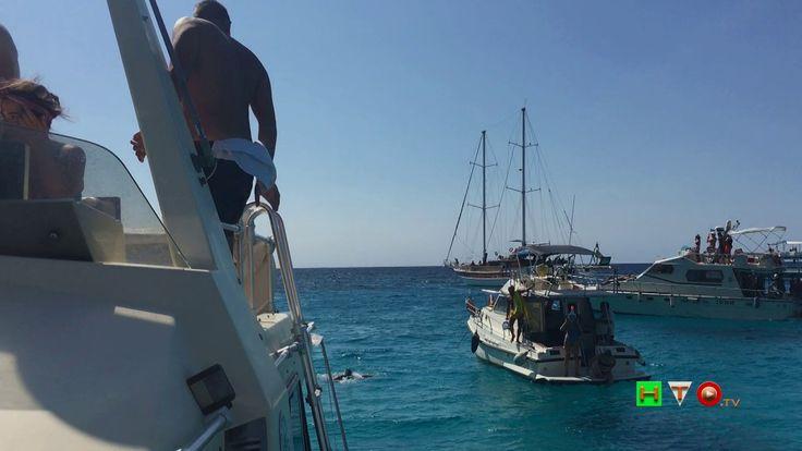 Lapedusa (AG), Escursione in barca e l'isola vista dal mare - www.HTO.tv