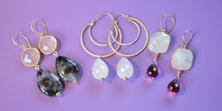 Frederiquestijl Oorbellen met edelstenen. Handgemaakt en uniek. Maxima stijl oorbellen, klassieke oorbellen, maar ook eigentijdse oorbellen.