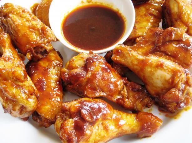 Unique Wing Sauce 10/26/14: SMALL BATCH (1 dozen wings): 2 Tbl. red hot sauce, 2 Tbl. soy sauce, 1 Tbl. melted butter, 2 tsp. sugar, 1/2 tsp. garlic powder, 1/2 tsp. ginger powder and 1 tsp. rice vinegar.
