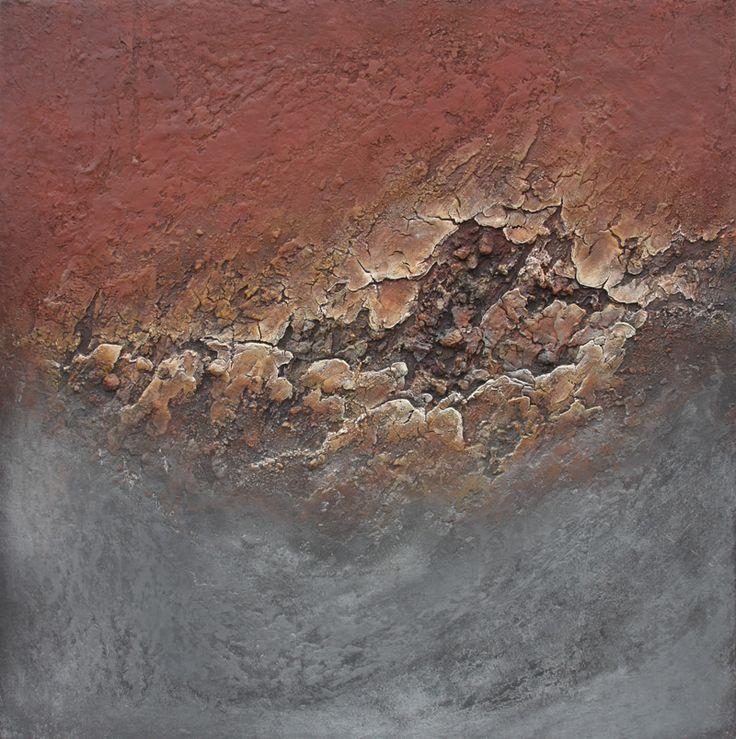 mixed media on canvas 100x100 natural pigments www.liesbet.biz
