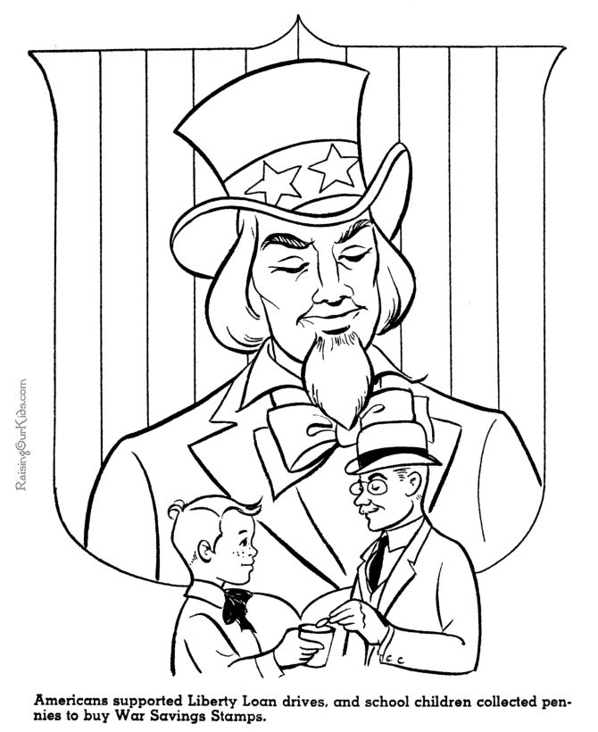 245 best history coloring sheets images on pinterest for Uncle coloring pages