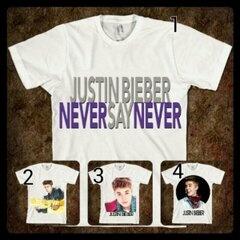 "[KODE: T-JB] T-Shirt ""Justin Bieber"" || Size: S-XXL || Rp 75.000"