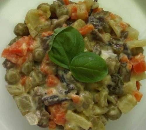 Постный салат оливье. Рецепт приготовления. / Простые рецепты