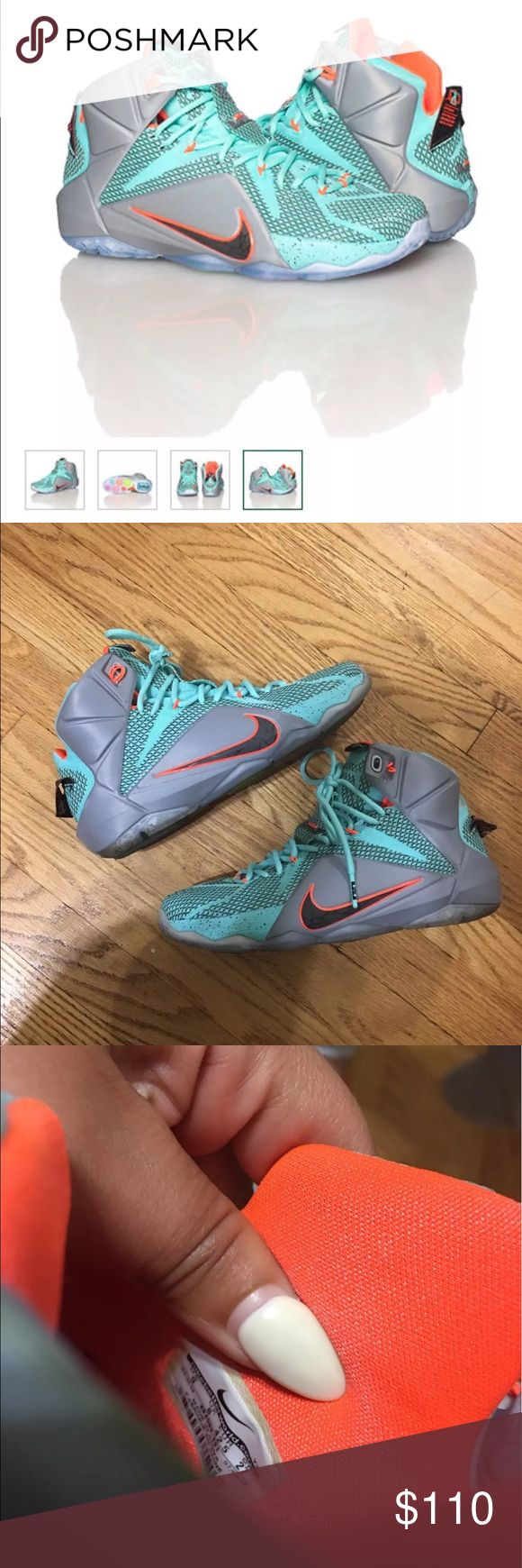 Rare Lebron Nike Colorway: Hyper Turquoise Size 9 Rare Lebron Nike Colorway: Hyper Turquoise Size 9 Easter 2014 Edition like new Nike Lebron James Shoes Sneakers