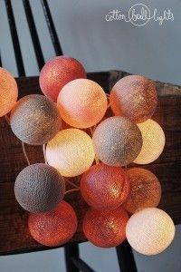 Home decor. Petit - zestaw Cotton Ball Lights