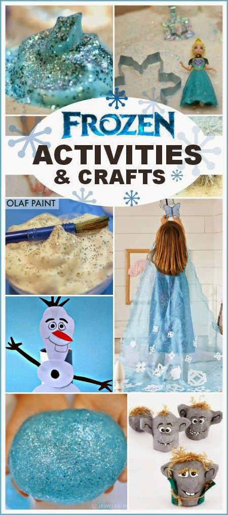 Frozen activities  crafts inspired by the movie- so many fun ideas sure to delight fans of Disney's Frozen! #frozen