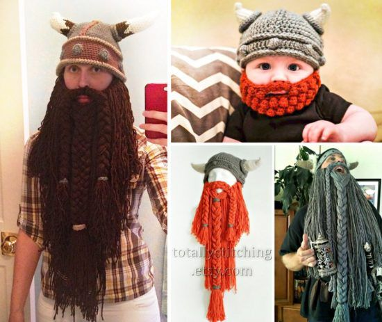 Crochet Viking Hat And Beard Pattern : 1000+ ideer om Gratis M?nster p? Pinterest Hekling ...