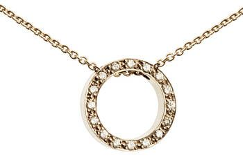 Gold & Diamond Circle Necklace