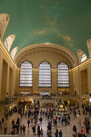 Grand Central Station, New York.  Had cocktails in Michael Jordan's Bar overlooking the Concourse - fantastic!