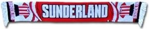 Sunderland AFC Football Scarf by Sunderland A.F.C.. $12.78. This Sunderland scarf is made from 100% acrylic and is ideal for all Mackems.