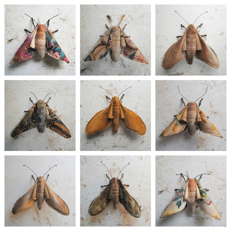 Textile Art | Textile Moths By Mister Finch