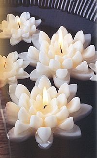 Floating lotus candles