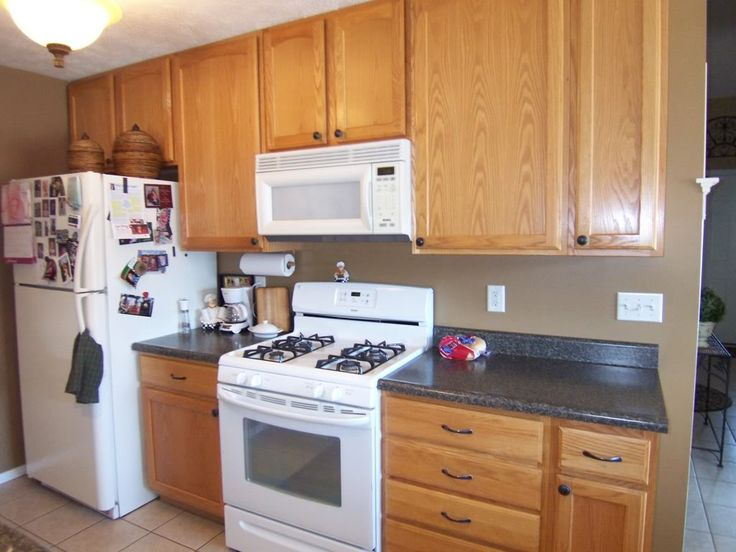 Paint Colors For Kitchens With Light Cabinets best 25+ painting oak cabinets white ideas on pinterest | painted