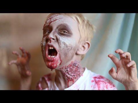 Easy Zombie Halloween Tutorial | Last Minute Idea! - YouTube
