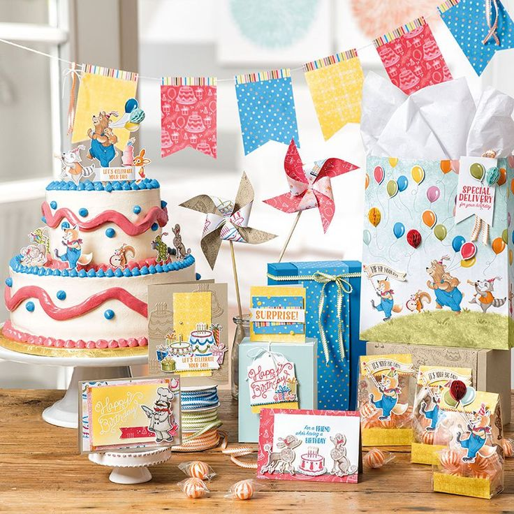 The nostalgic works of art you create with the Stampin Up Birthday Delivery Bundle (stamps and dies) will delight anyone and leave everyone wishing they had another birthday coming this week. So flippin' adorbs. The background paper is the coordinating Birthday Mem