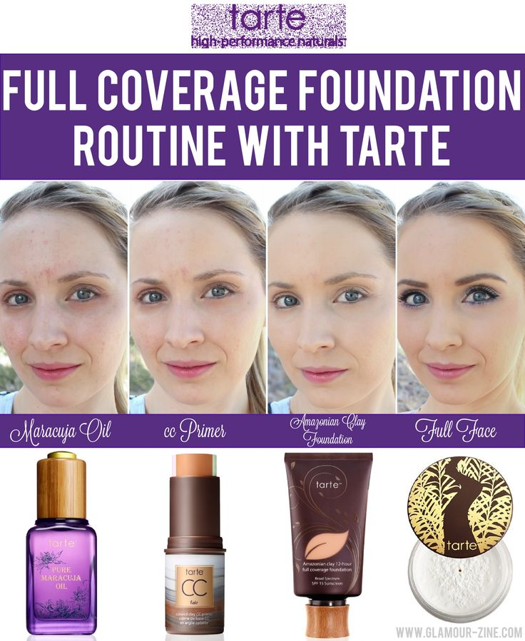 Tarte Cosmetics Full Coverage Foundation Routine via @Glamourzine -- (want to try this for myself)