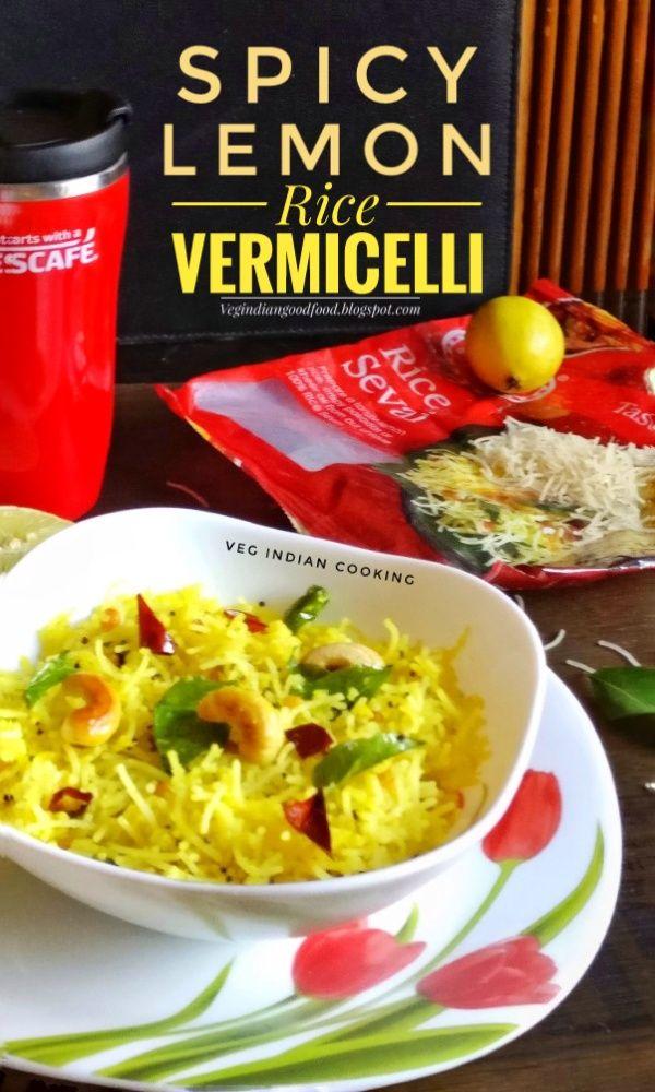 How to make Spicy Lemon Vermicelli | Rice Seviyan| Lemon Flavored Vermicelli Upma Sevai | Lemon Bhath | Spicy Lemon Rice Noodles Rec...