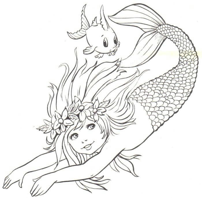 mermaid child line drawing use as inspiration --> If you're in the market for the top adult coloring books and supplies including colored pencils, drawing markers, gel pens and watercolors, visit our website at http://ColoringToolkit.com. Color... Relax... Chill.