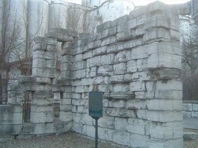 Historic civil war era prison site in Alton IL. these are called suffering bricks and are said to be haunted and they are in almost all the buildings in Alton