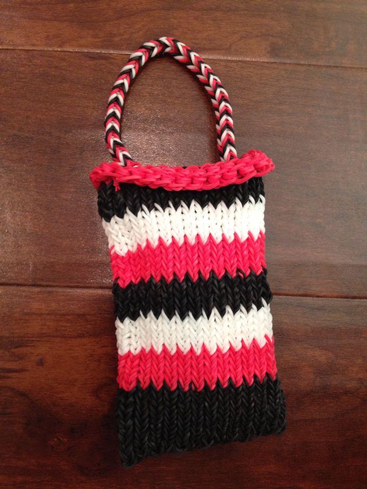 Rainbow loom purse or phone case
