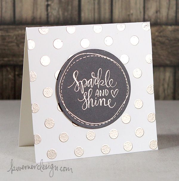 How to Heat Emboss using Simon Card Kit.  The sparkle and shine stamp set from the kit is fantastic!