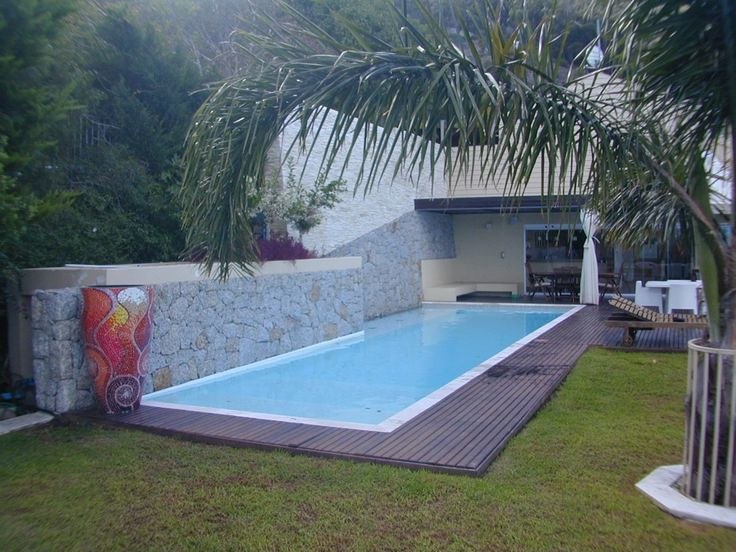 Home Lap Pool Design lap pool designs have best lap pool Minimalist Design Of The Lap Pool In Deck That Has Grey Deck Color Can Be Decor