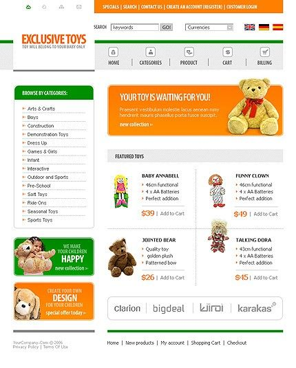 Online Shop osCommerce Templates by Lovely
