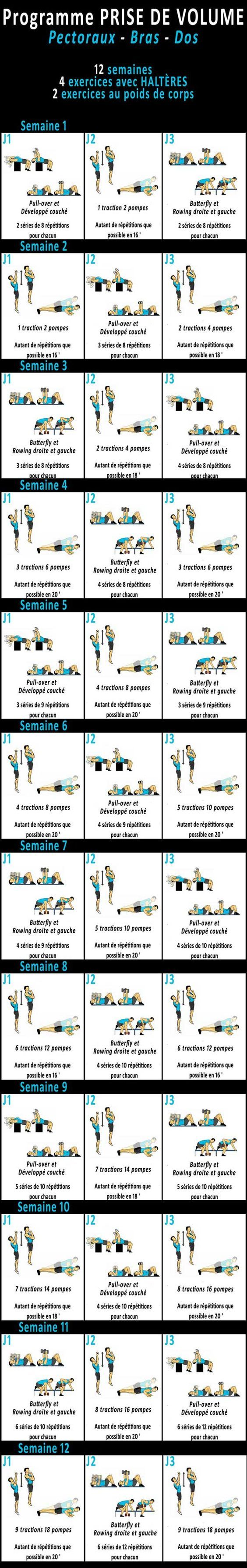 17 best ideas about musculation prise de masse on for Musculation volume
