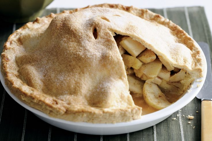 Tart green apples combined with delicate spices make a rich fruit filling for this traditional pie.