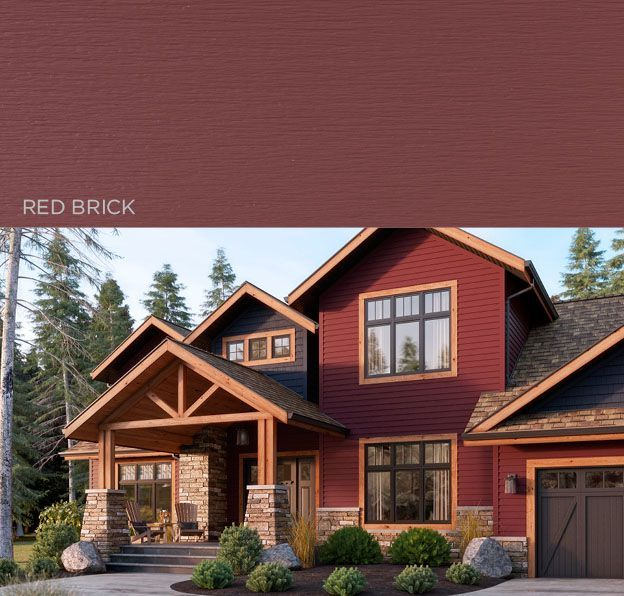 167 best images about exterior colors on pinterest exterior colors craftsman and craftsman houses - Red exterior wood paint plan ...