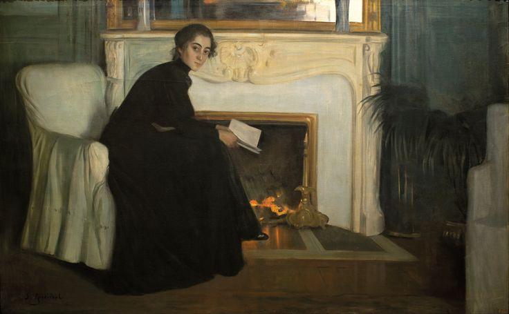 Romantic Novel, 1894, Santiago Rusiñol. Spanish (1861 - 1931)