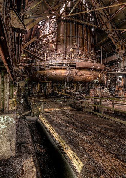 Abandoned Steel Mill.  Pittsburgh, Pennsylvania ...why D. Trump is President... ?
