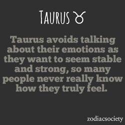 Taurus personality.