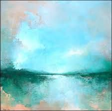 I am in love with these colors. I wish I could be this talented. My Mother did not pass on her fine art talents. Abstract art.