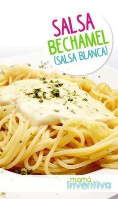 Una Receta Facil para hacer la pasta con salsa blanca.