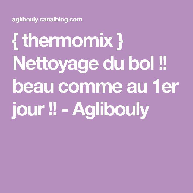{ thermomix } Nettoyage du bol !! beau comme au 1er jour !! - Aglibouly