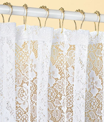 country lace shower curtain for laundry room home