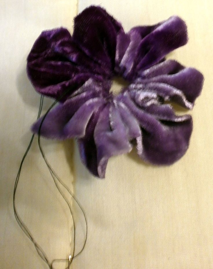 Easy Velvet pansy to use for embellishment