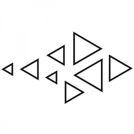 Wenn du denkst, du bist ein Hipster, dann solltest du dir dieses Motiv besorgen. Die Dreiecke stehen für den Lifestyle der Hipster. #Hipster #Dreieck #Wadeco // http://www.wadeco.de/hipster-dreiecke-freeform-wandtattoo.html