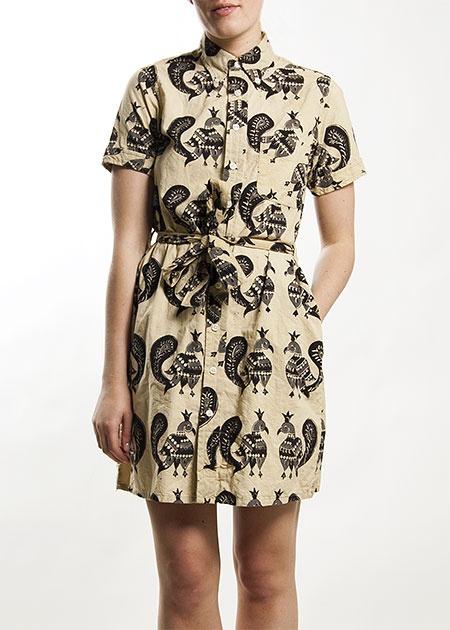 Stuart & Wright - Fenwick - Block Print Shirt Dress