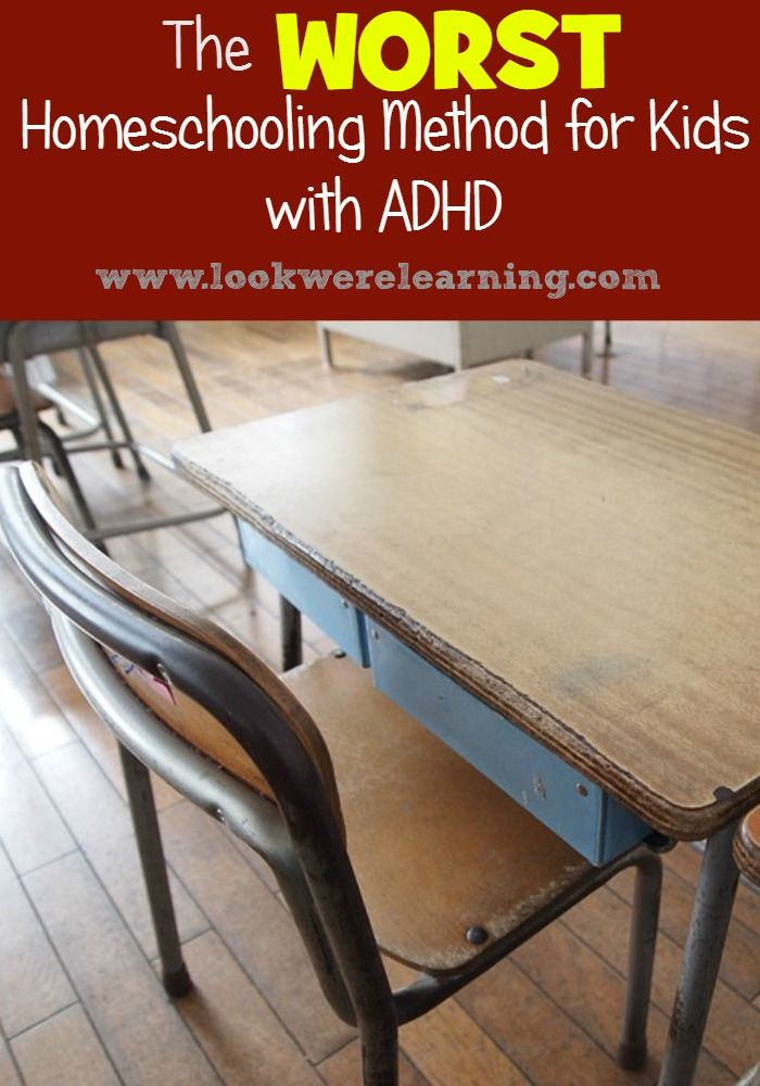 Considering homeschooling for your ADHD child? Stay away from this method - the WORST homeschooling approach for kids with ADHD!