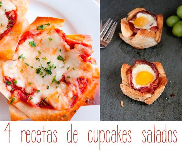 Recetas para ni�os: 4 cupcakes salados