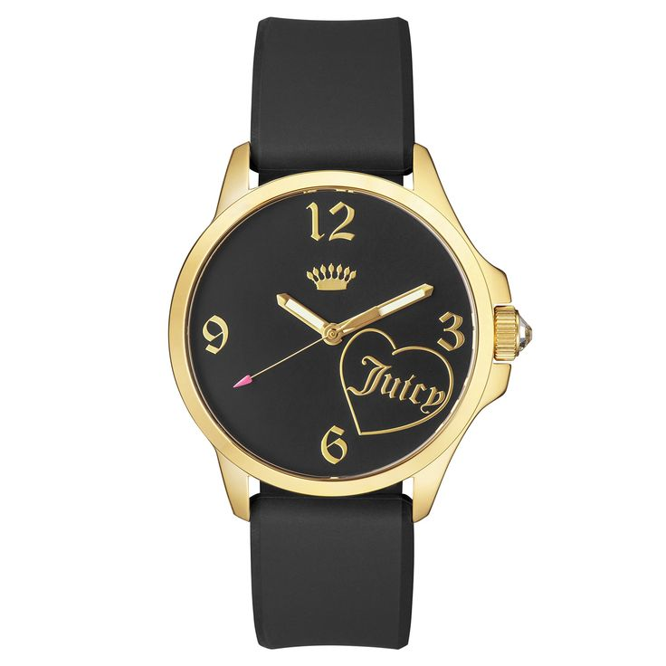 Juicy Couture Fergie Stainless Steel Ion Plated Women's Silicon Strap Watch