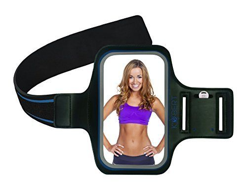 Kobert Exercise Armband (Blue) - for iPhone 6 Plus, 6S Plus, 6 5 5s 5c, Samsung Galaxy 6 S6 S5 S4, LG G2 G3 G4   Key