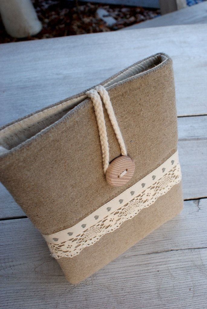 Apple iPad mini case/ linen. $24.00, via Etsy.