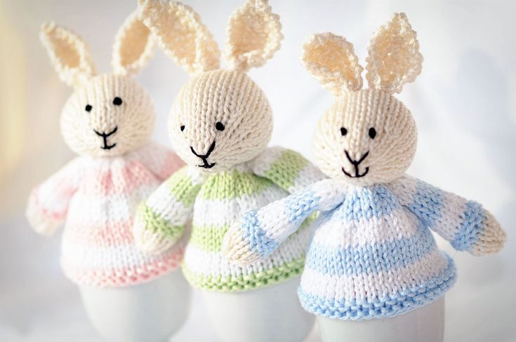 Easter Egg Cozies.  So cute!  But I have never actually seen an egg cozy used in real life...
